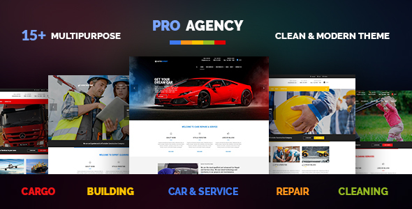 Pro Agency - Multipurpose Building & Construction, Car Repair & Logistics, Cleaning & Garden Theme