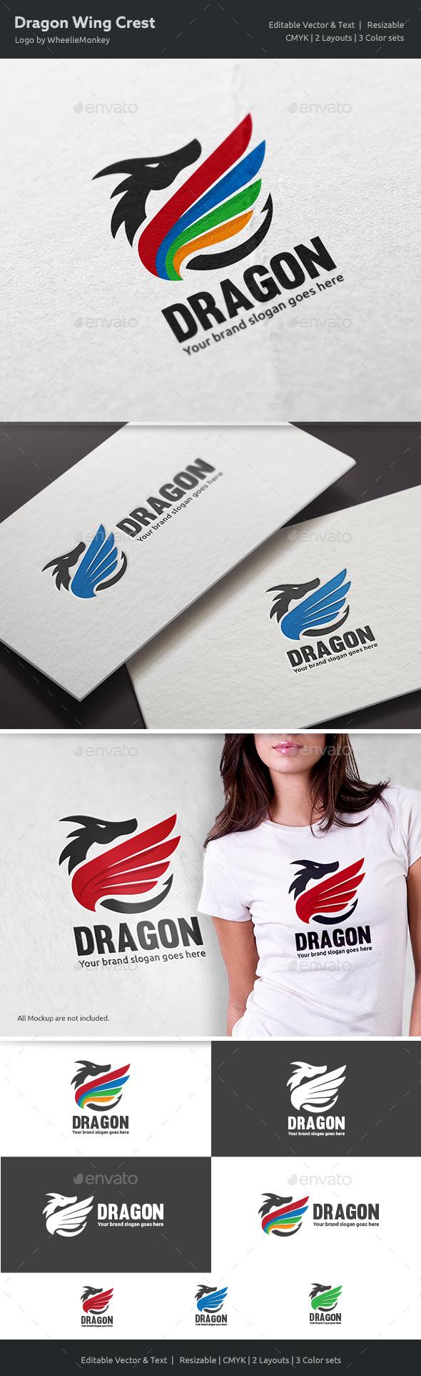 Dragon Wing Crest Logo - Crests Logo Templates