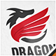 Dragon Wing Crest Logo
