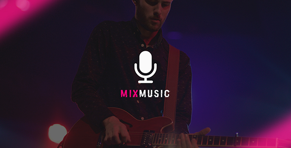 MixMusic – Band & Musician PSD Template
