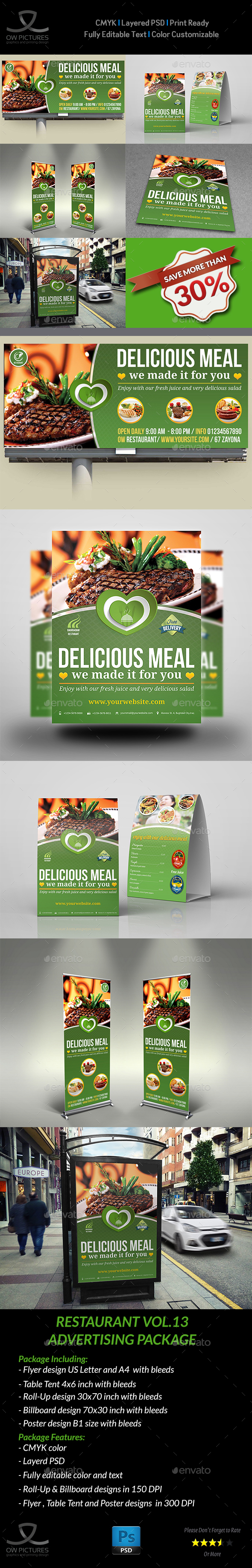Restaurant Advertising Bundle Vol13