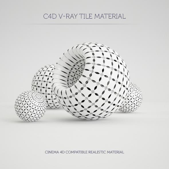 C4D V-Ray Marrakesh Tile Material - 3DOcean Item for Sale