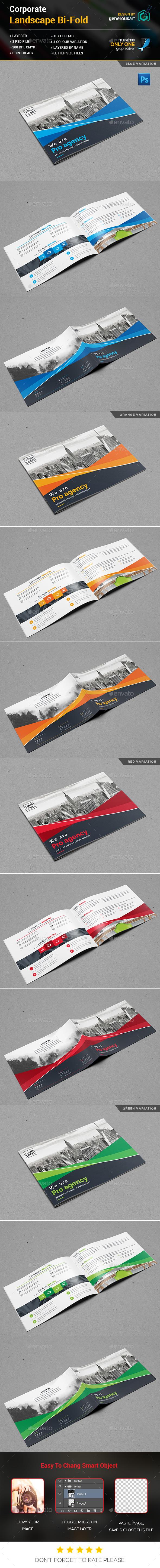Landscape Bi-Fold - Brochures Print Templates