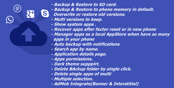 AppBackup - CodeCanyon Item for Sale