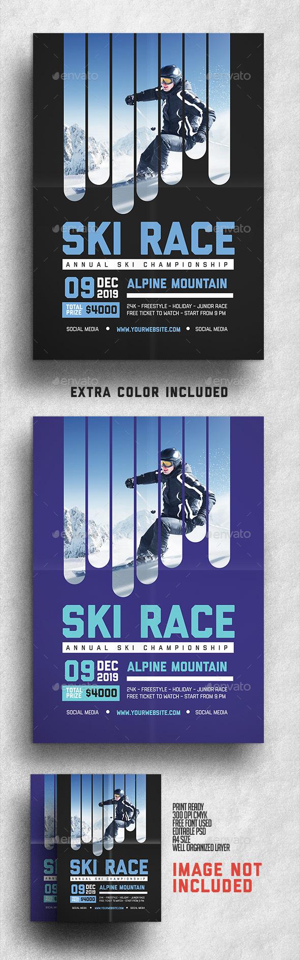 Ski Race Flyer - Sports Events