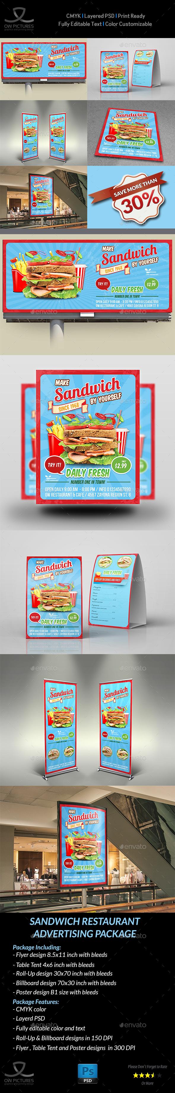 Sandwich Restaurant Advertising Bundle