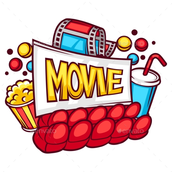 Cinema And Movie Advertising Background In Cartoon - Media Technology
