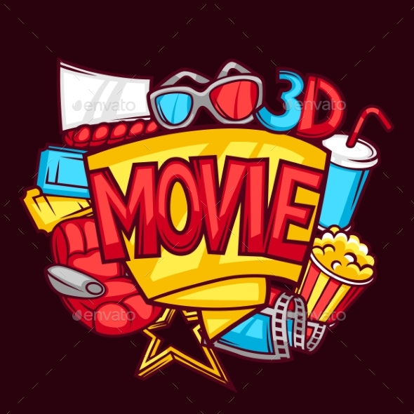 Cinema And 3d Movie Advertising Background - Media Technology