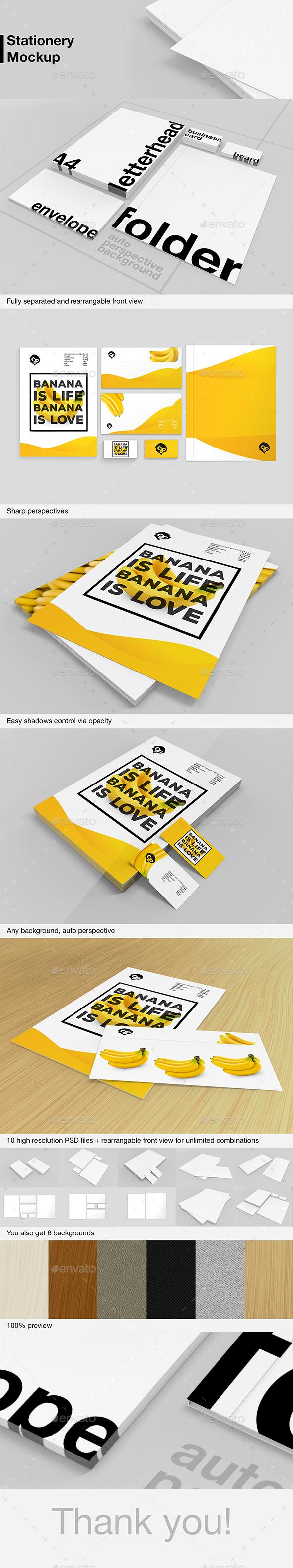 Branding Stationery Mockup - Stationery Print