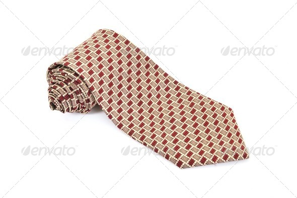 business fashion isolated new necktieon white background - Stock Photo - Images