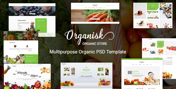 Organisk – Multi-Purpose Organic PSD Template