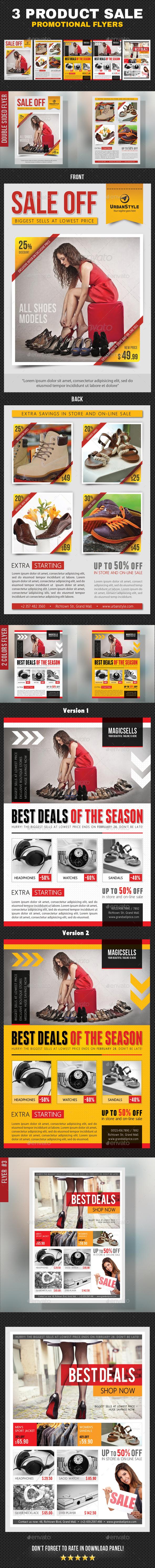 3 in 1 Product Sale Promotion Flyer Bundle - Commerce Flyers