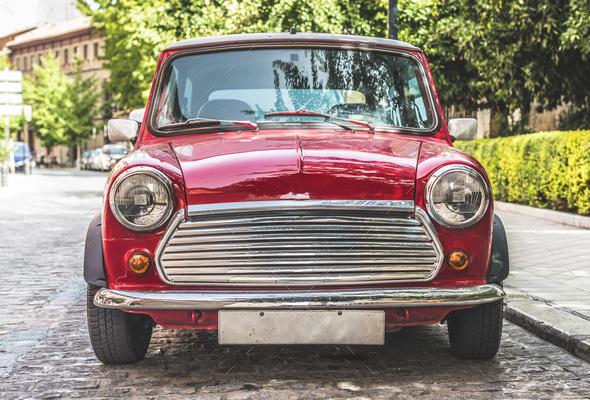 Vintage small car - Stock Photo - Images