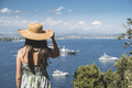 Woman with summer hat watching yachts - PhotoDune Item for Sale