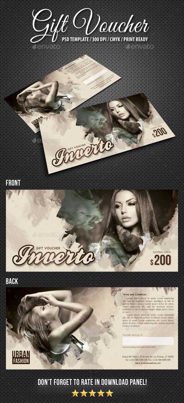 Gift Voucher Artistic - Cards & Invites Print Templates