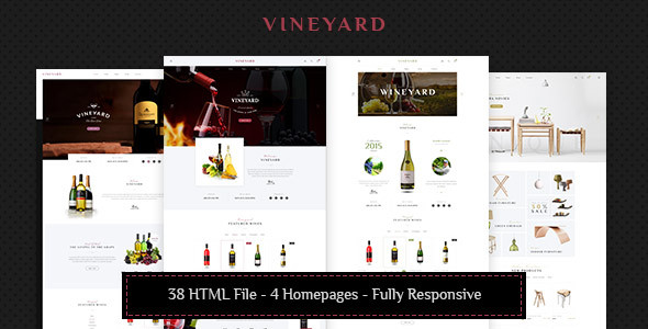 Vineyard – Wine Store Ecommerce Template HTML5