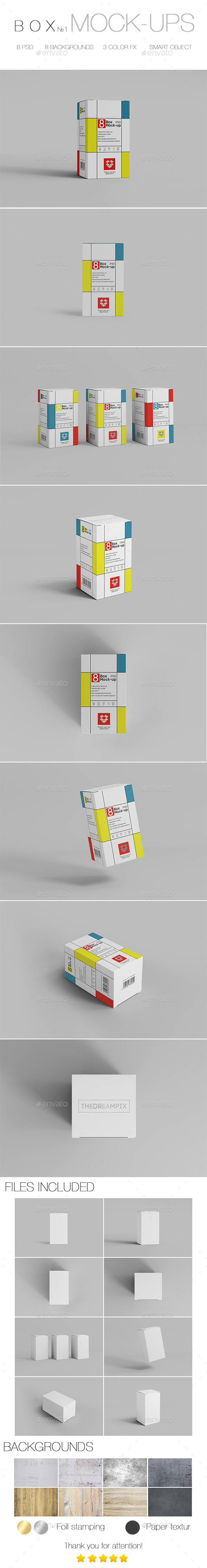 Box Mock-up №1 - Miscellaneous Packaging