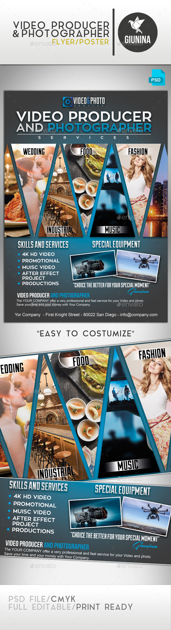 Video Producer and Photographer Flyer/Poster - Commerce Flyers