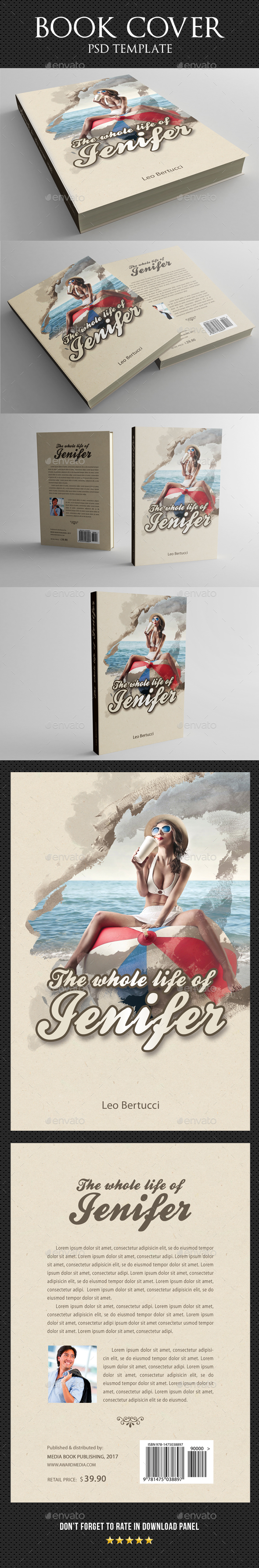 Book Cover Template 26 - Miscellaneous Print Templates
