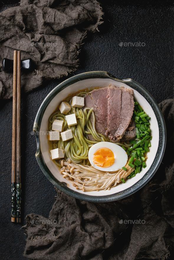 Asian noodle soup - Stock Photo - Images