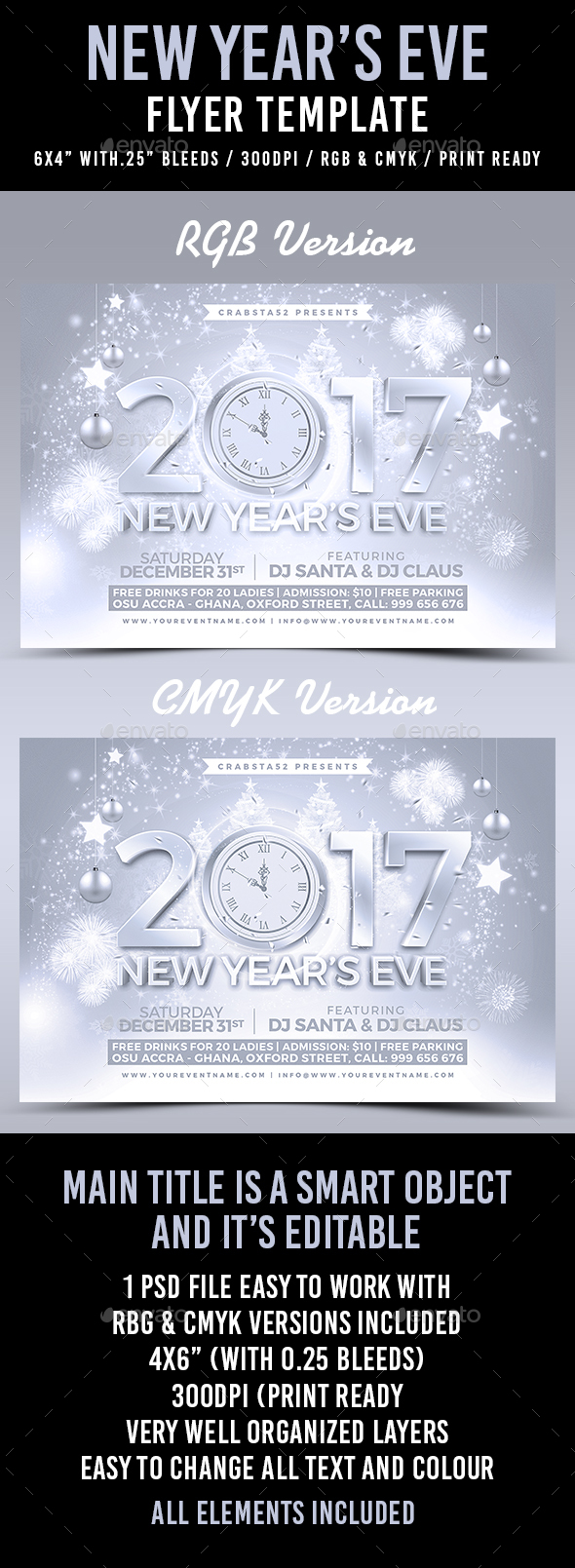 New Year's Eve Flyer Template - Flyers Print Templates