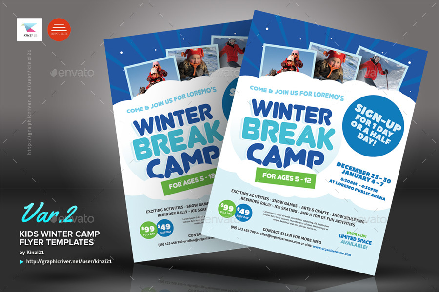 Kids Winter Camp Flyer Templates By Kinzi21 | Graphicriver