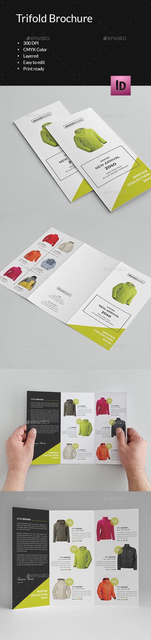 Winter Fashion Trifold Brochure-V293 - Corporate Brochures