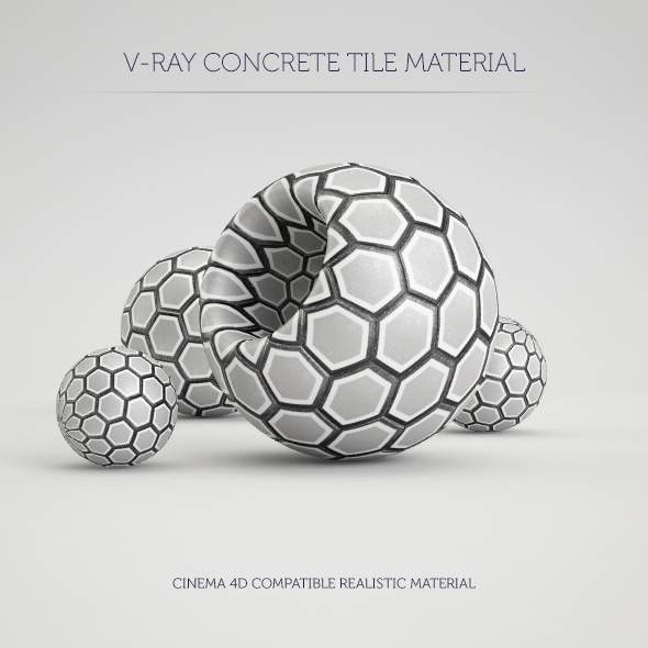C4D V-Ray Hexagon Tile Material - 3DOcean Item for Sale