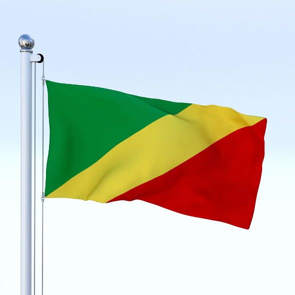 Animated Republic of the Congo Flag - 3DOcean Item for Sale