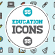 Great 55+55 Vector Education Icons - GraphicRiver Item for Sale