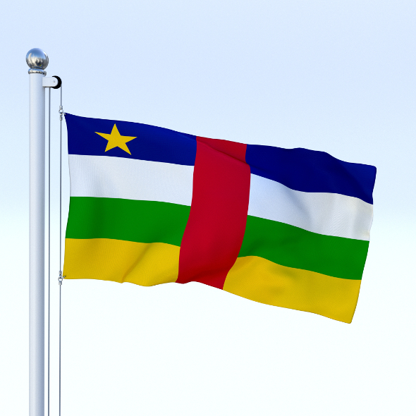 Animated Central African Republic Flag - 3DOcean Item for Sale
