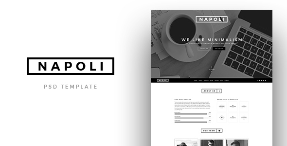 Napoli - Creative OnePage PSD Template - PSD Templates