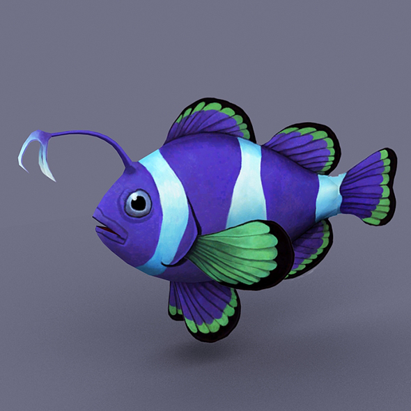 Sapphire fish - 3DOcean Item for Sale
