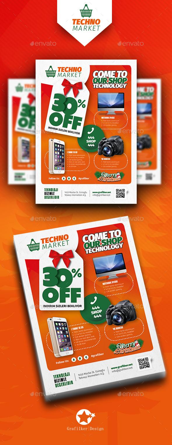 Technology Shop Flyer Templates - Corporate Flyers