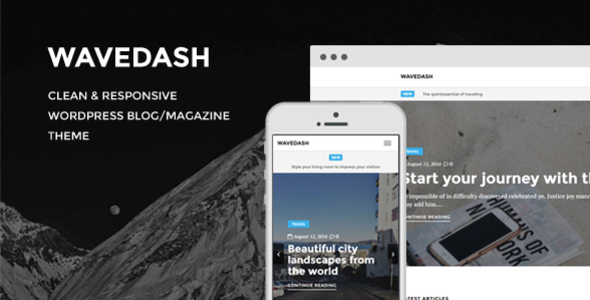 Wavedash – Clean Lifestyle Blog & Magazine WordPress Theme