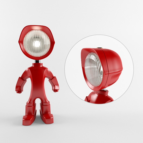 The Lampster robo lamp - 3DOcean Item for Sale