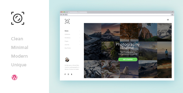 GoodLight – Horizontal WordPress Theme for Photographers