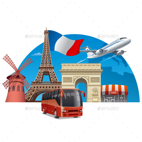 Travel in Paris - Travel Conceptual