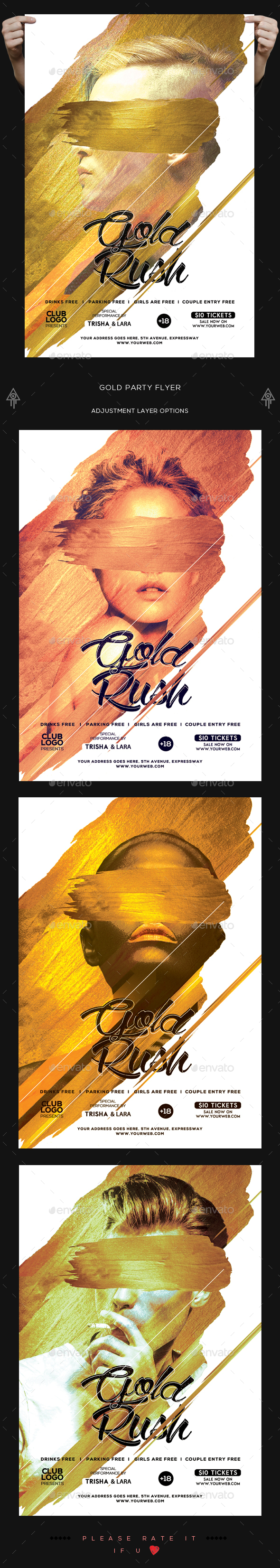 Gold Rush Flyer - Clubs & Parties Events