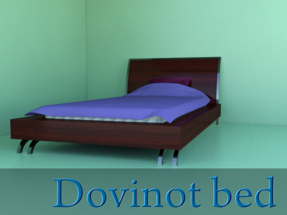 Dovinot bed - 3DOcean Item for Sale