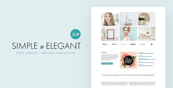 Simple & Elegant – Multi-Purpose Theme