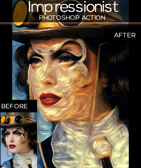 Impressionist Paint Effect - Photo Effects Actions