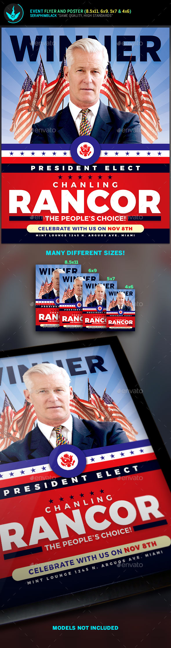 President Elect Political Flyer Template - Corporate Flyers