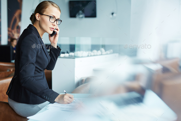 Female agent - Stock Photo - Images