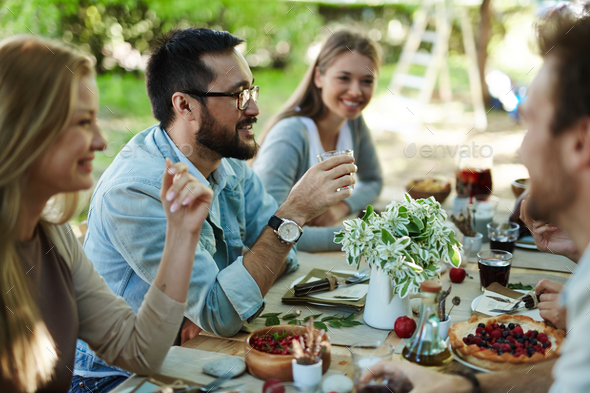 Festive dinner - Stock Photo - Images