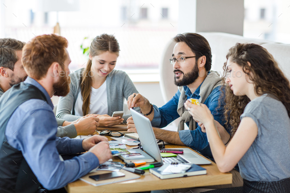 Talk of designers - Stock Photo - Images