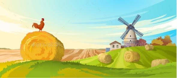 Rural Summer Landscape - Seasons Nature