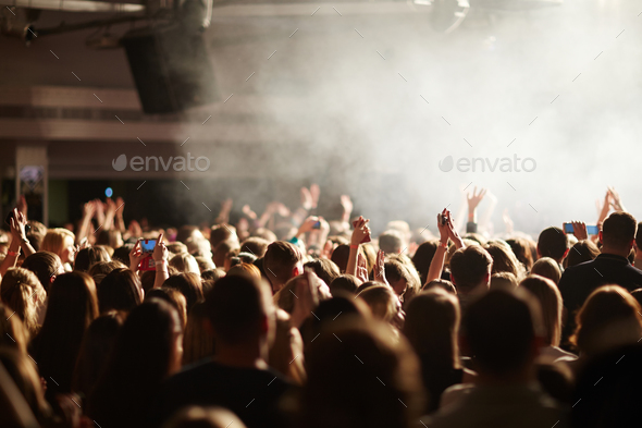 Youth at concert - Stock Photo - Images