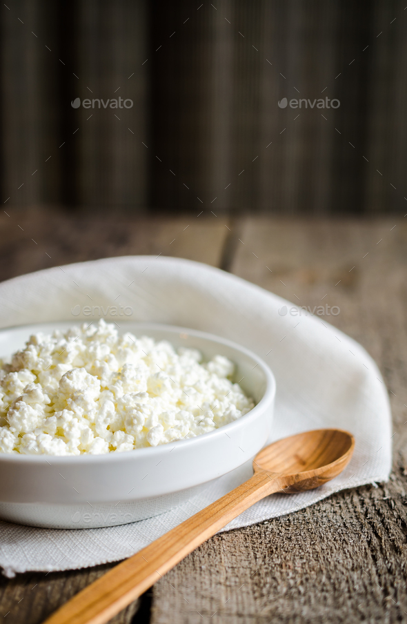 Cottage cheese - Stock Photo - Images