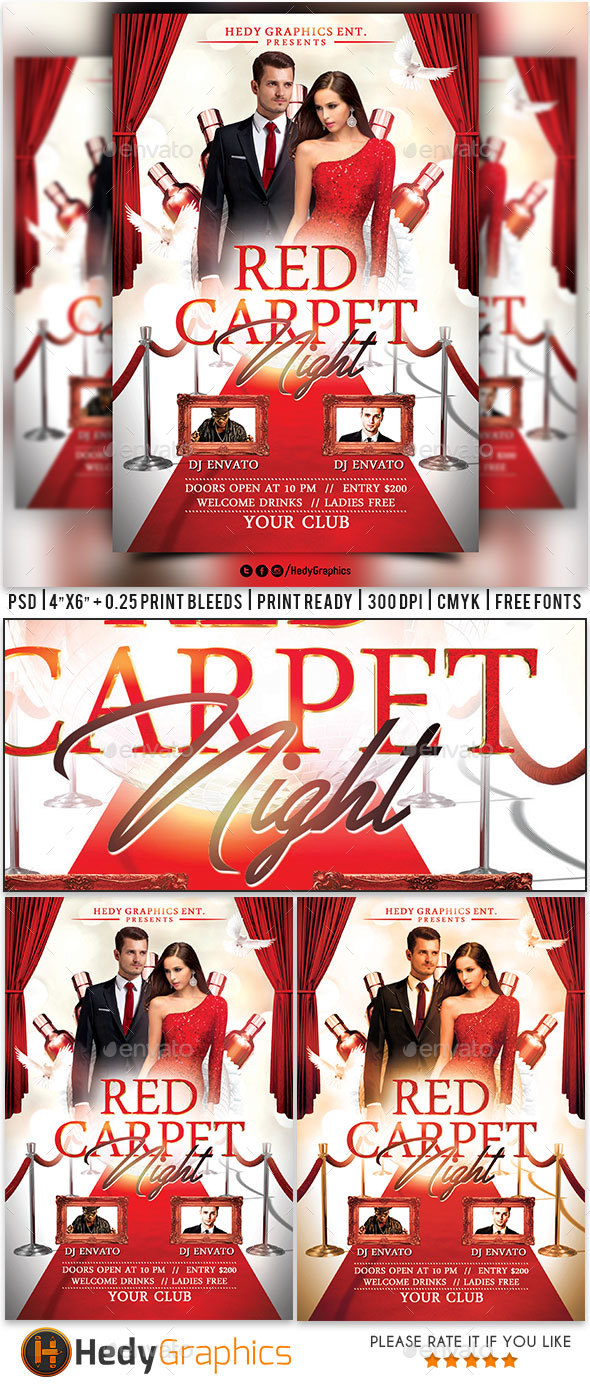 Red Carpet Night - Flyer - Clubs & Parties Events